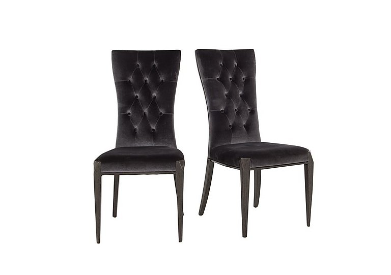 Allure Pair Of Button Back Dining Chairs