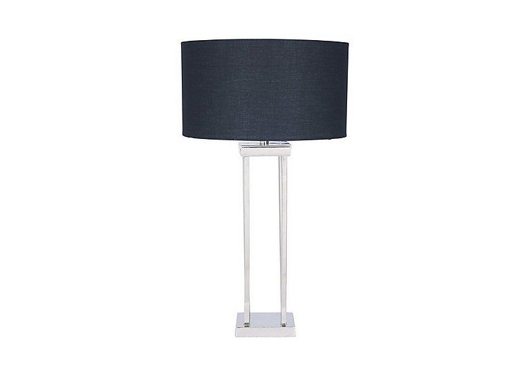 Aluminium Column Table Lamp in  on Furniture Village