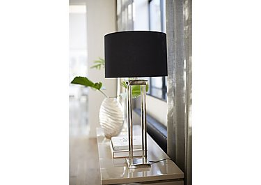 Aluminium Column Table Lamp in  on Furniture Village