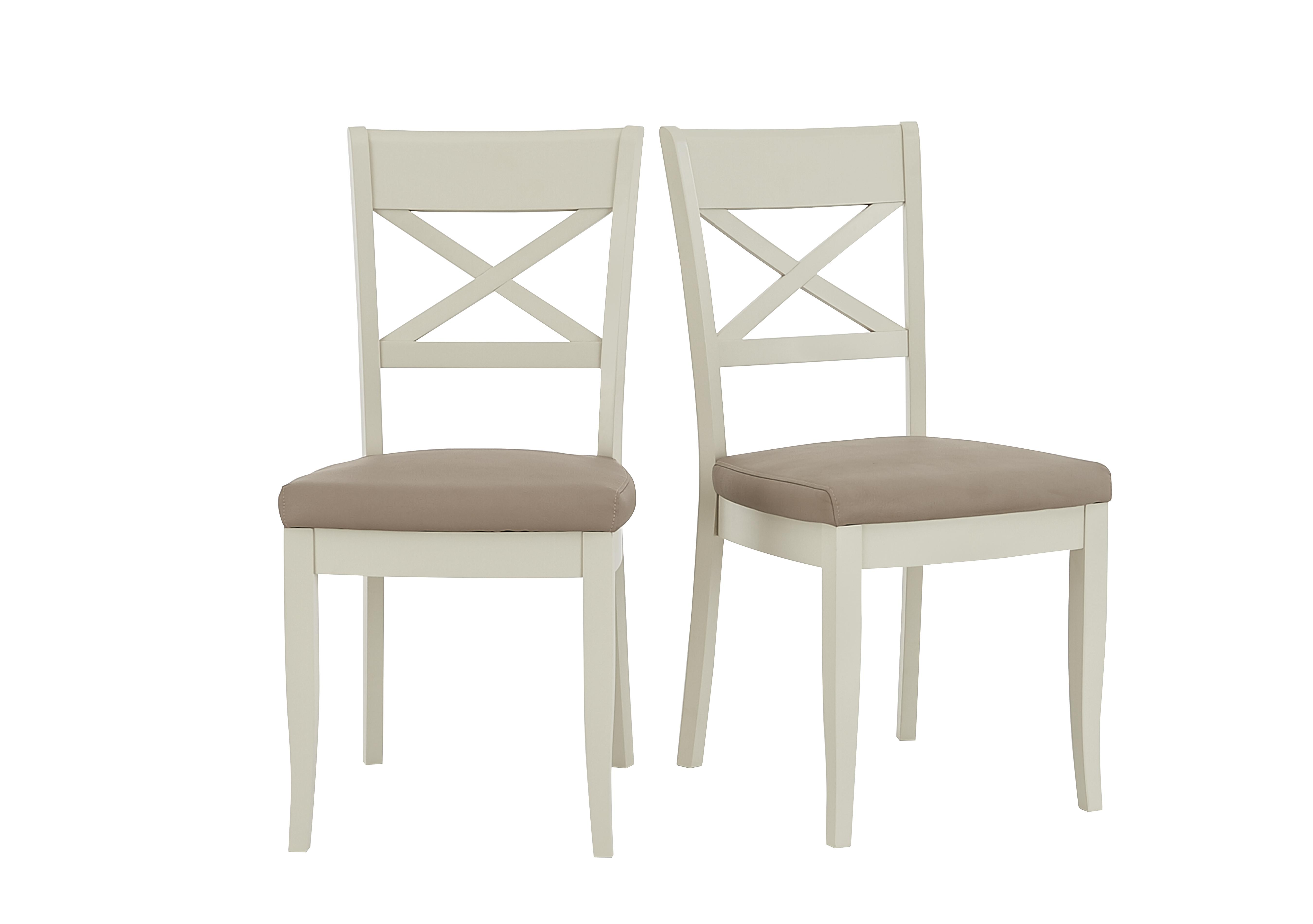 Annecy Pair of Cross Back Dining Chairs - Furniture Village