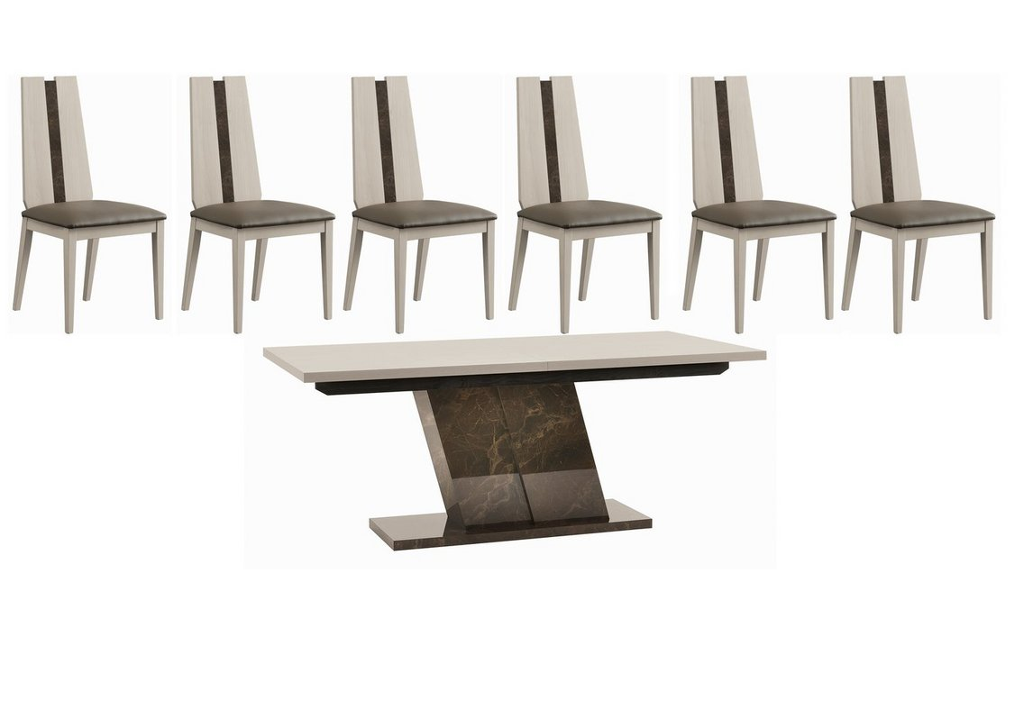 Andorra Dining Table And 6 Chairs Alf Furniture Village