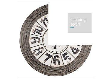 Antique Grey Metal Round Clock in  on Furniture Village