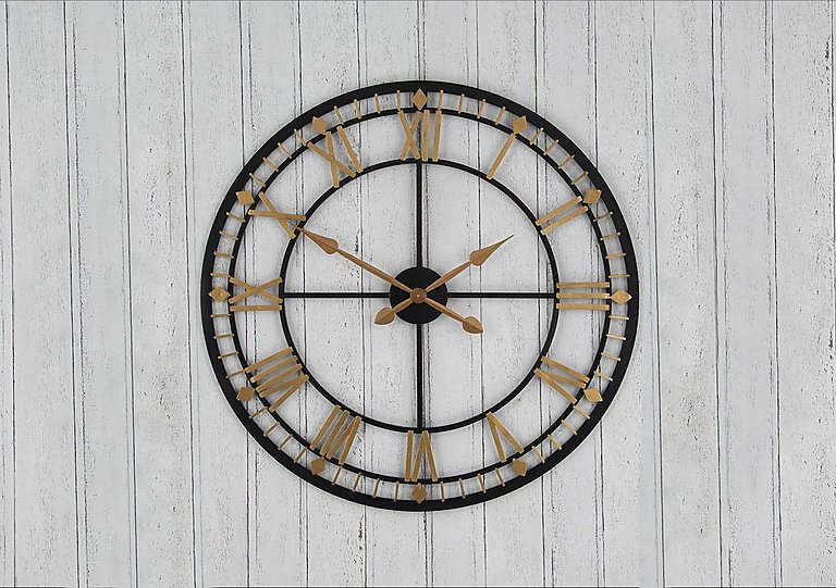 Antique Metal Wall Clock Furniture Village
