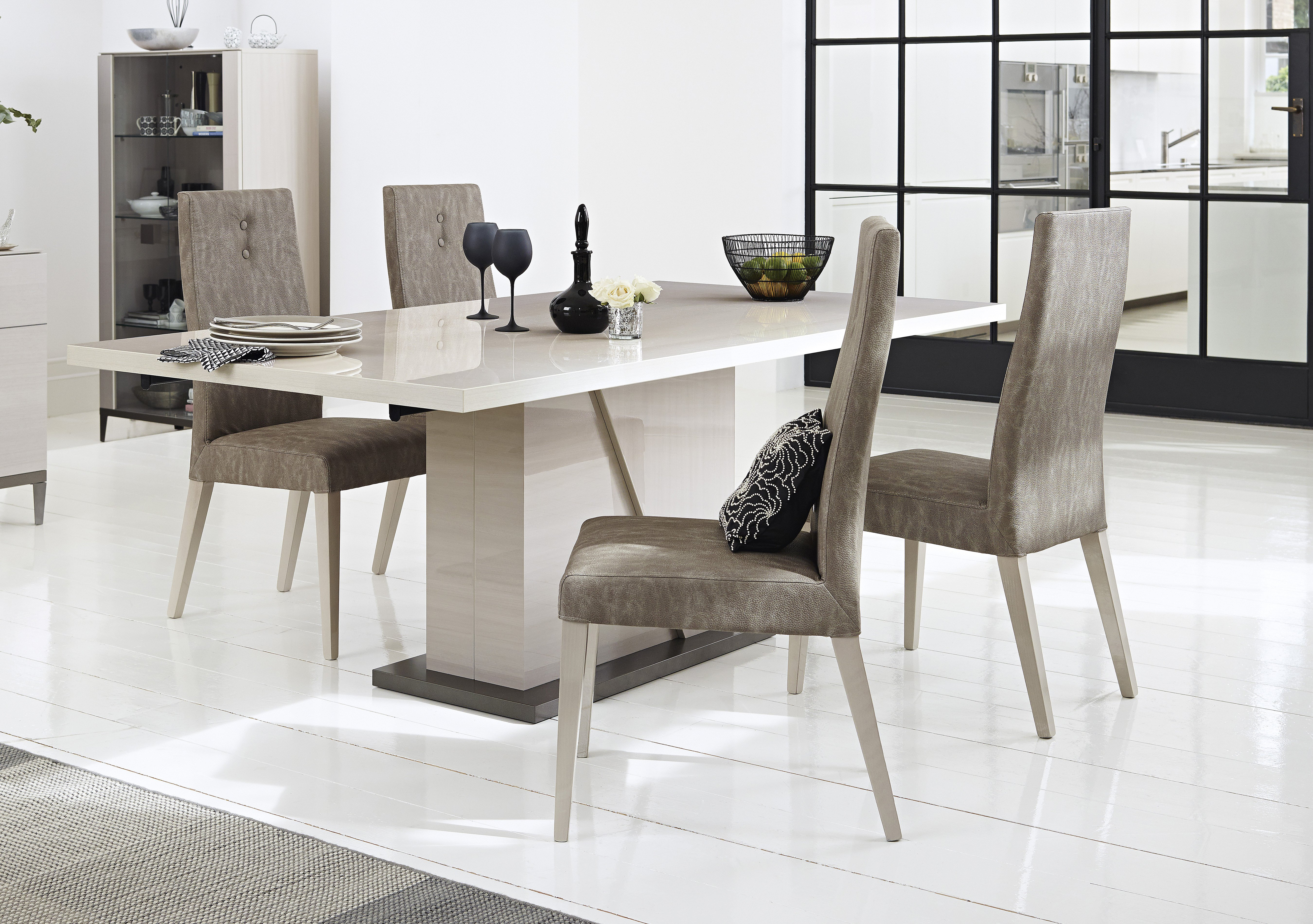 Alpine Dining Table and 4 Dining Chairs ALF Furniture Village