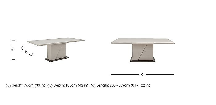 Alpine Extending Dining Table in  on Furniture Village