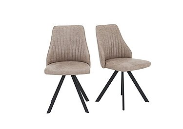 Aquila Pair of Swivel Dining Chairs in  on Furniture Village