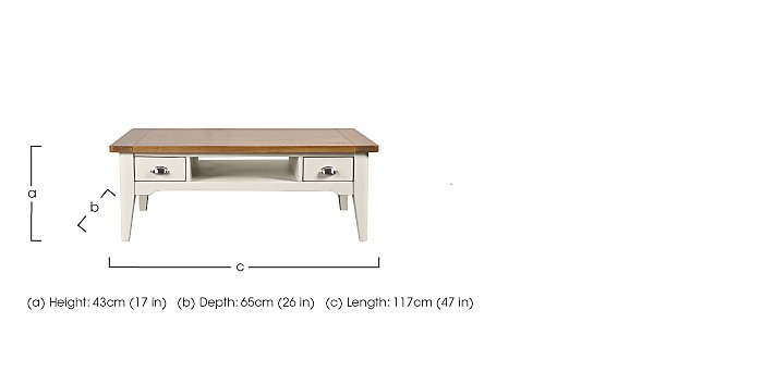 Arles Coffee Table with Storage in  on Furniture Village