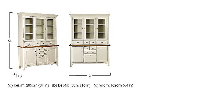 Arles Large 3 Door Sideboard with Glazed Hutch in  on Furniture Village