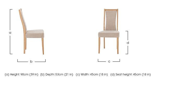 Artisan Padded Back Dining Chair in  on Furniture Village