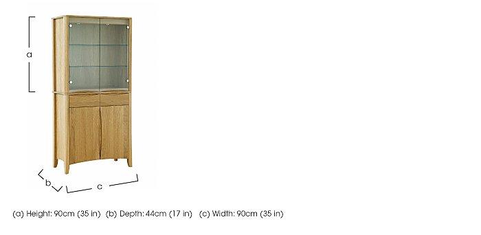 Artisan 2 Door Display Top in  on Furniture Village