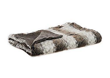 Arctic Stripe Faux Fur Throw in  on Furniture Village
