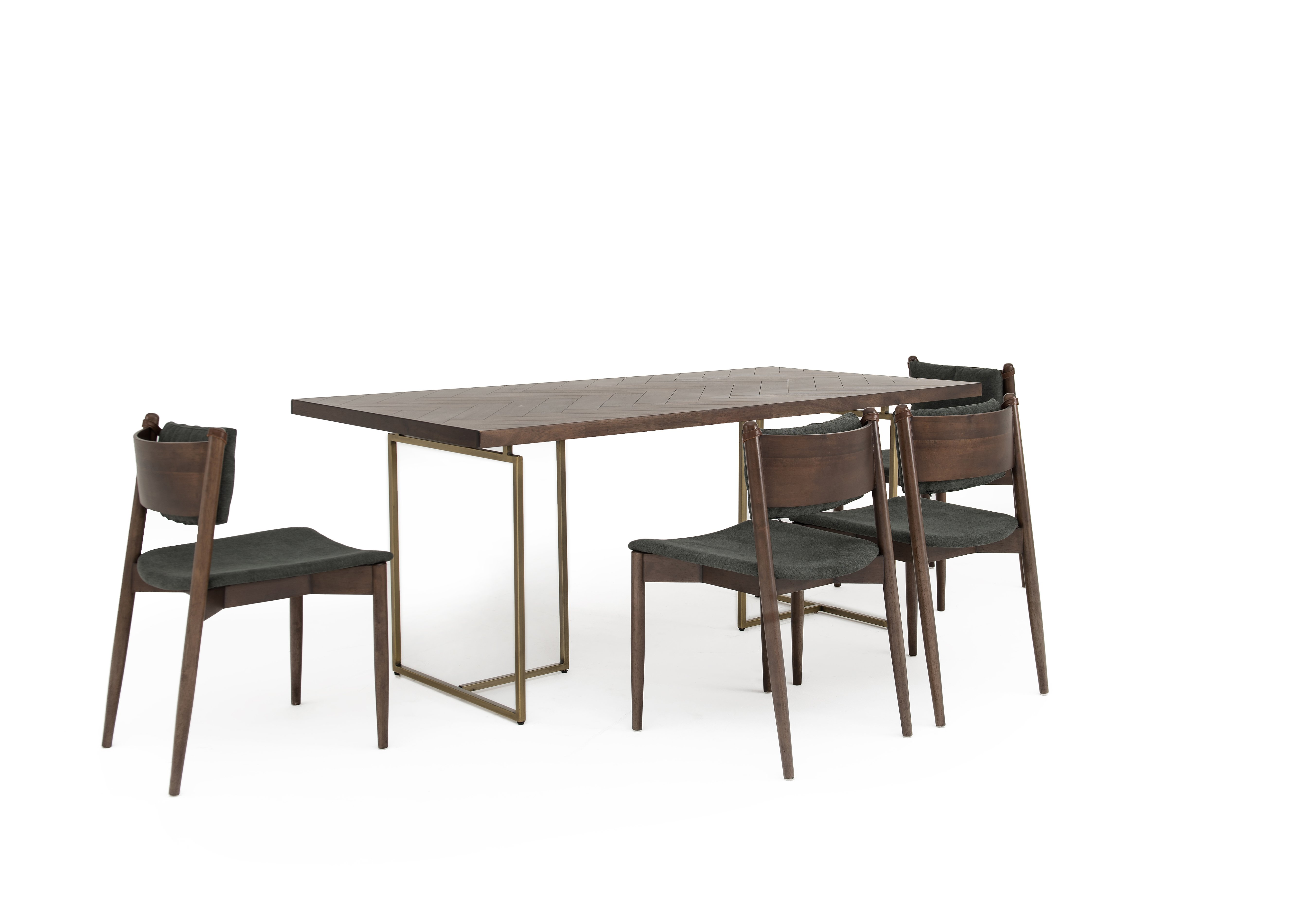 Art Deco Table and 4 Dining Chairs Furniture Village