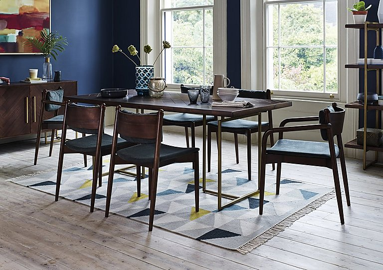 Best Art Deco Table and 4 Dining Chairs - Furniture Village GA65