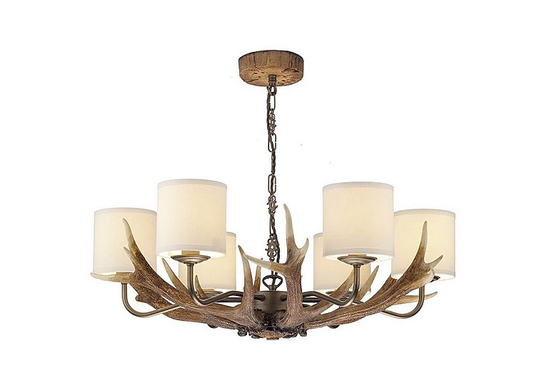 Antler rustic 6 light pendant furniture village antler rustic 6 light pendant aloadofball