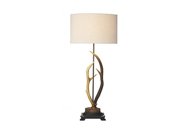 Antler Rustic Large Table Lamp in  on Furniture Village
