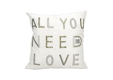All You Need is Love Cushion in  on Furniture Village