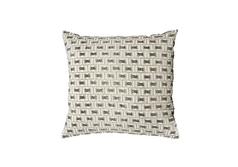 Beaded Buckles Cushion in  on Furniture Village