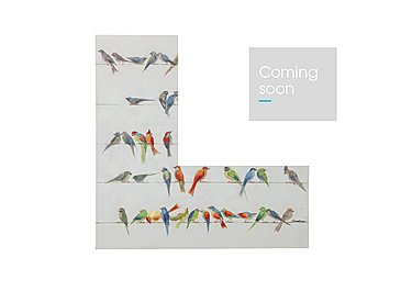 Touched Birds Meeting Canvas Picture Square in  on Furniture Village