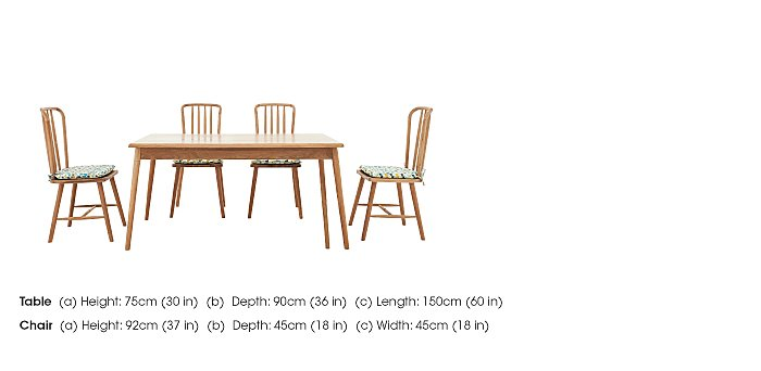 Battersea Fixed Dining Table and 4 Chairs in  on Furniture Village
