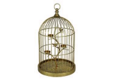 Gold Birdcage Tea Light Holder in  on Furniture Village