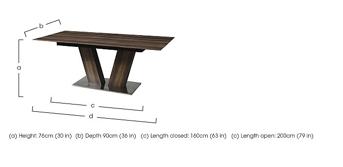 Berlin Extending Dining Table in  on Furniture Village
