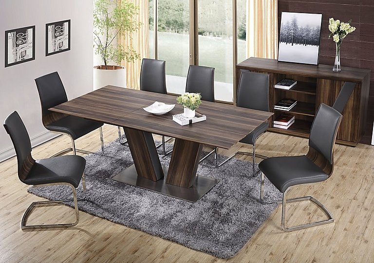 Berlin Extending Dining Table & Berlin Extending Dining Table - Furniture Village