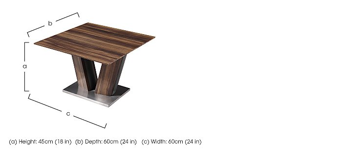 Berlin Lamp Table in  on Furniture Village