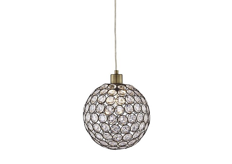 Bellis Antique Brass Ceiling Light in  on Furniture Village