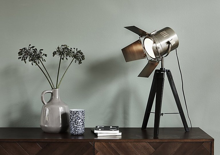 Black wood tripod table lamp furniture village black wood tripod table lamp aloadofball Images