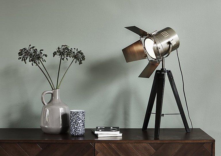Black wood tripod table lamp furniture village black wood tripod table lamp aloadofball Image collections