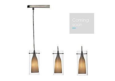 Boda 3 Light Pendant in  on Furniture Village