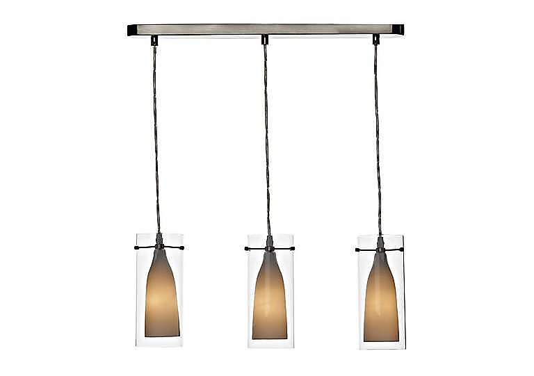 Boda 3 Light Pendant in  on Furniture Village