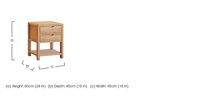 Bosco Bedside Cabinet in  on Furniture Village