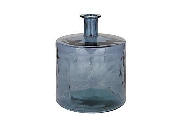 Air Force Blue Recycled Glass Bottle in  on Furniture Village