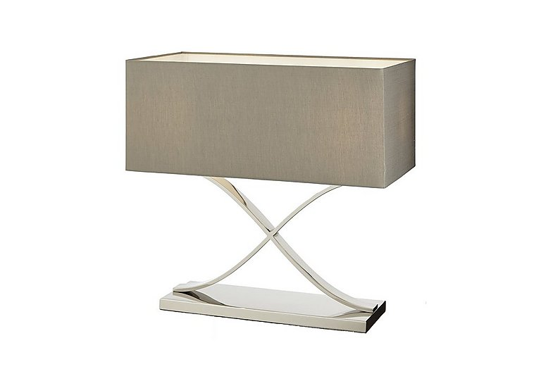 Brooks Stainless Steel Table Lamp in  on Furniture Village