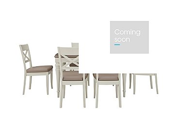 Annecy 4-6 Seater Extending Dining Table with 6 Dining Chairs Value Bundle in  on Furniture Village