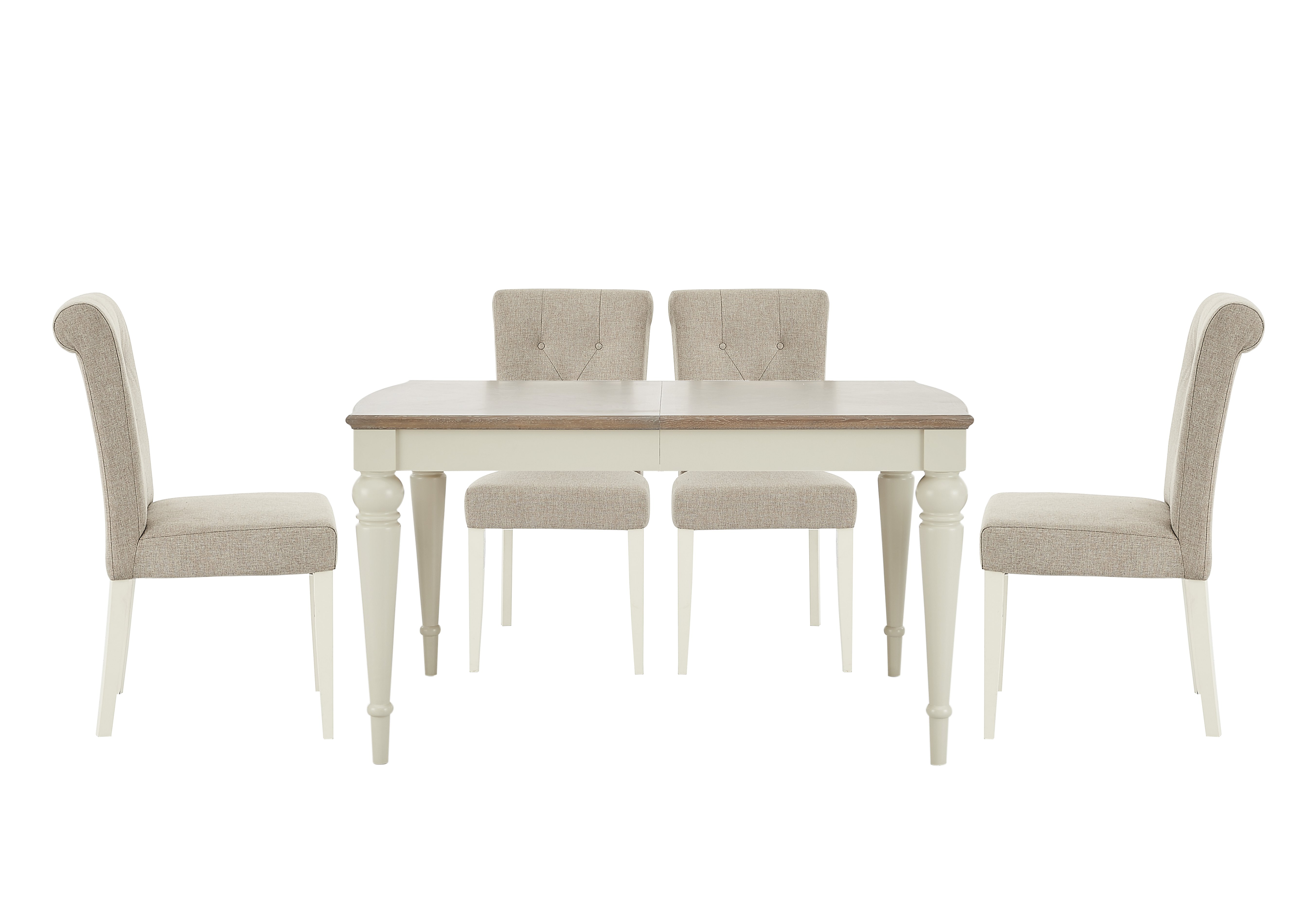 Annecy Extending Dining Table and 4 Chairs Furniture Village