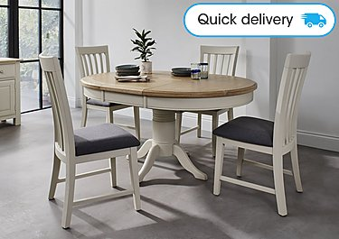 Miraculous Angeles Round Extending Dining Table And 4 Wooden Dining Chairs Download Free Architecture Designs Rallybritishbridgeorg