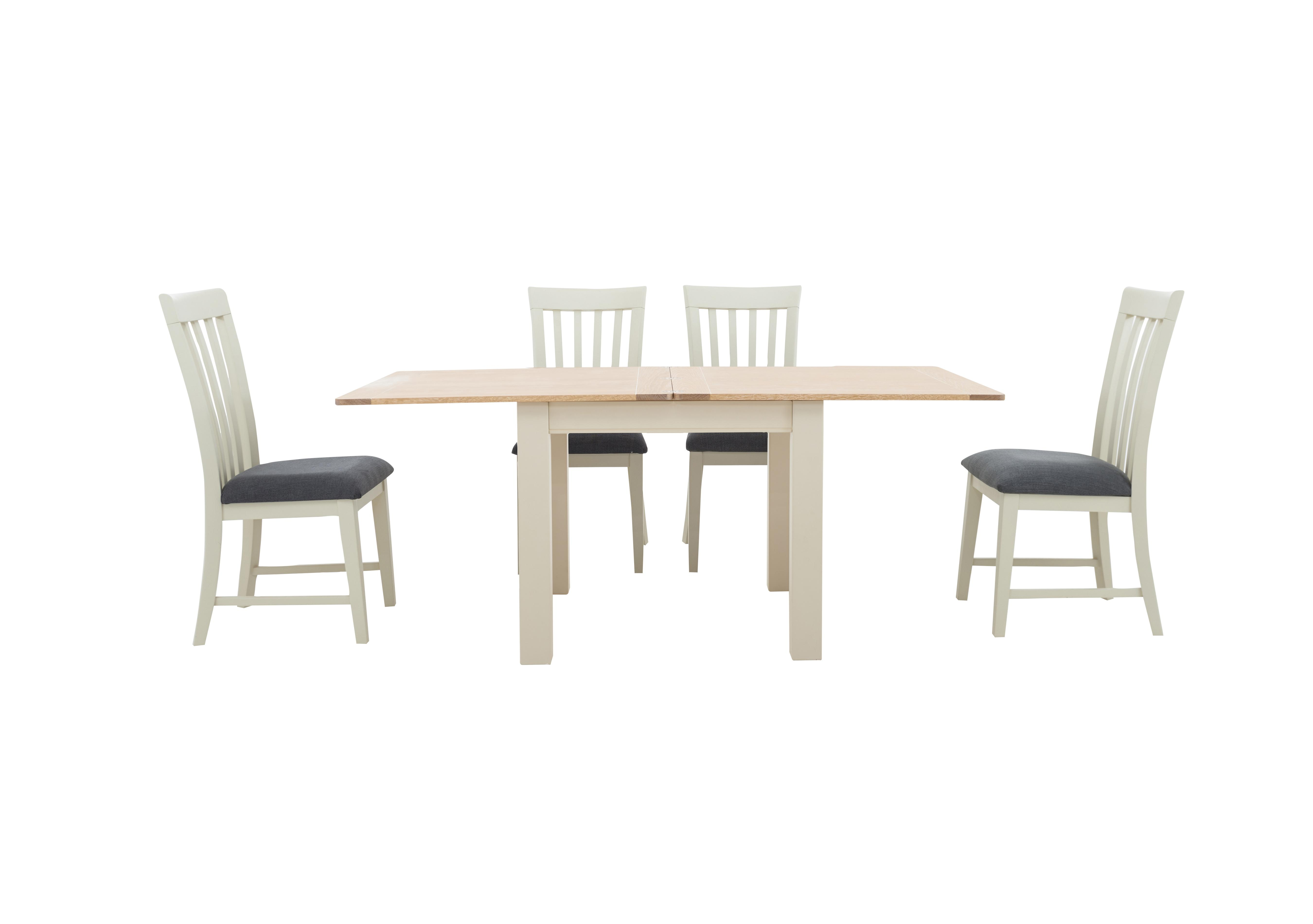 Picture of: Angeles Flip Top Extending Dining Table And 4 Wooden Dining Chairs Furnitureland Furniture Village