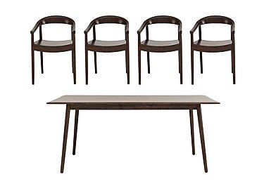 Cosmo Dining Table and 4 Dining Armchairs in  on Furniture Village