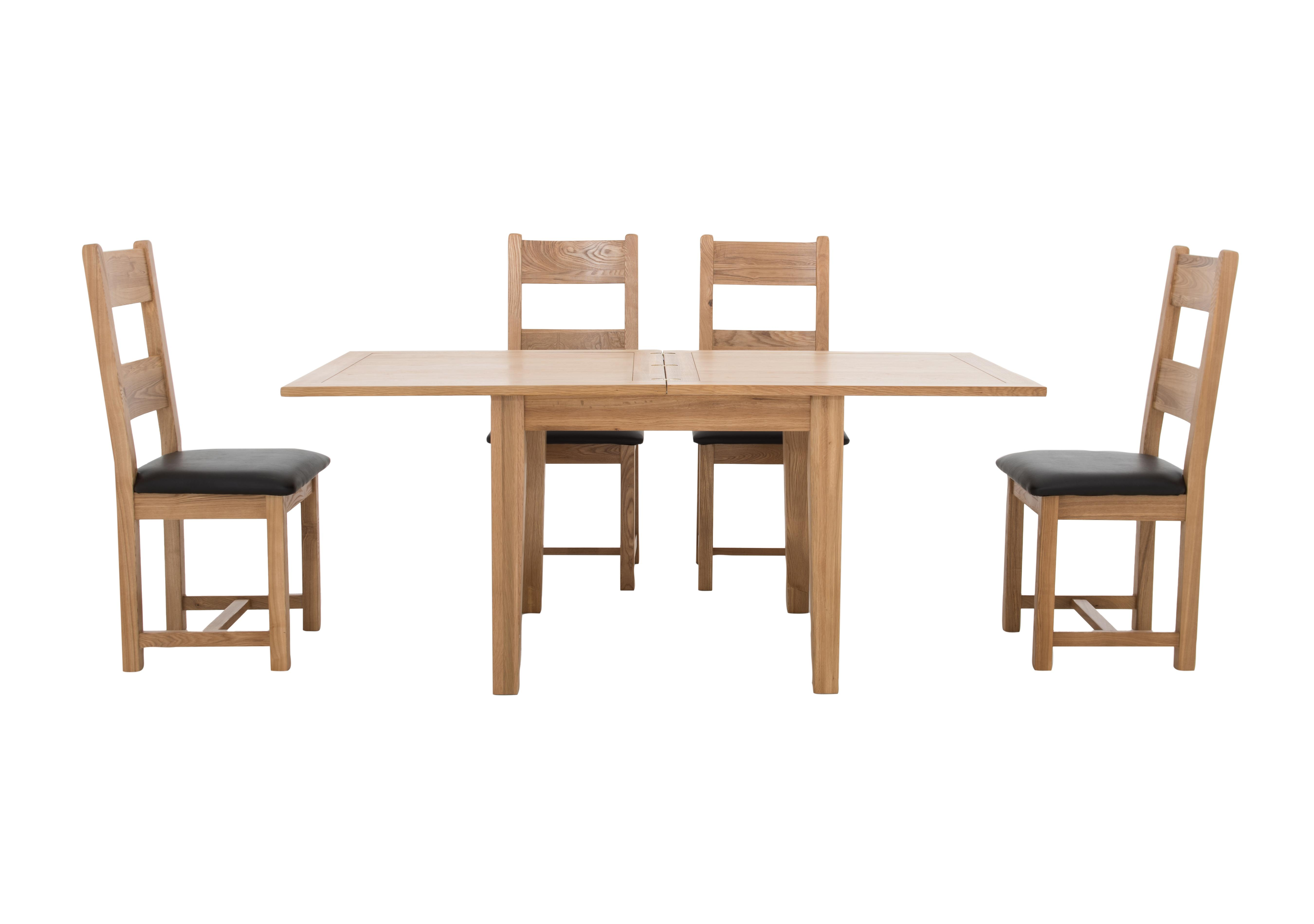 Picture of: California Flip Top Dining Table And 4 Wooden Chairs Furnitureland Furniture Village