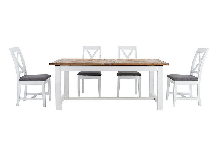 Parquet Extending Dining Table With 4 Chairs
