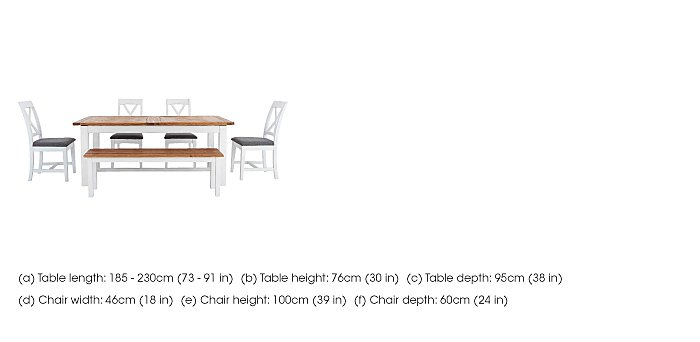 Parquet Extending Dining Table with 4 Dining Chairs in  on Furniture Village