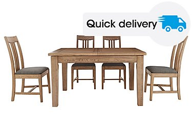Provence Extending Oak Table 4 Chairs