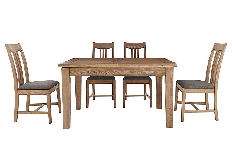 Provence extending oak table 4 chairs furnitureland for Furniture village sale