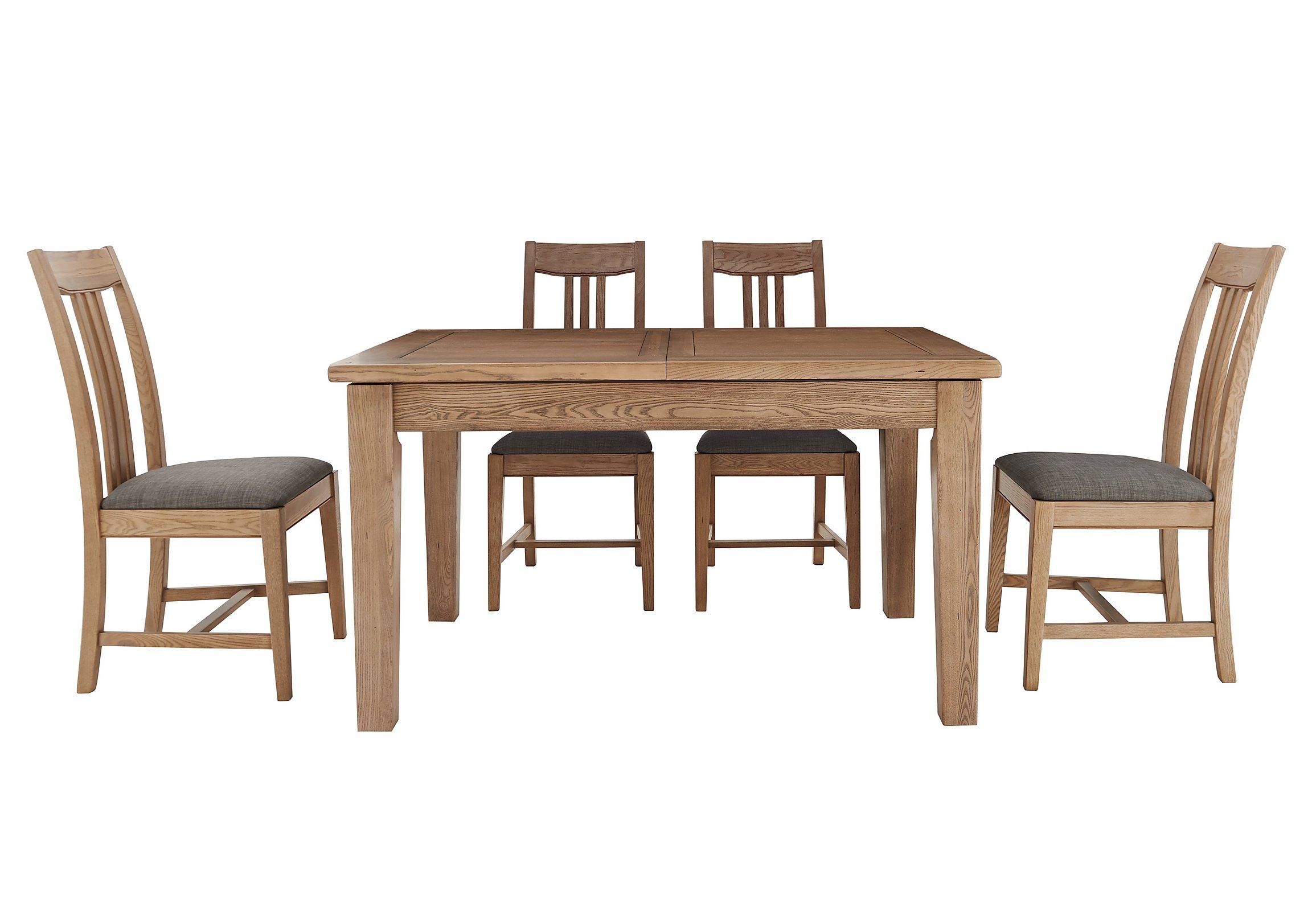 provence extending oak table 4 chairs furnitureland furniture
