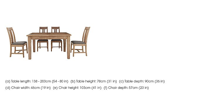 Provence Extending Oak Table & 4 Chairs in  on Furniture Village