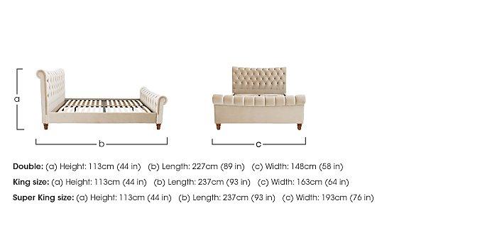 Sophia King Size Bed Frame & Presto Memory Pocket 1000 Mattress in  on Furniture Village
