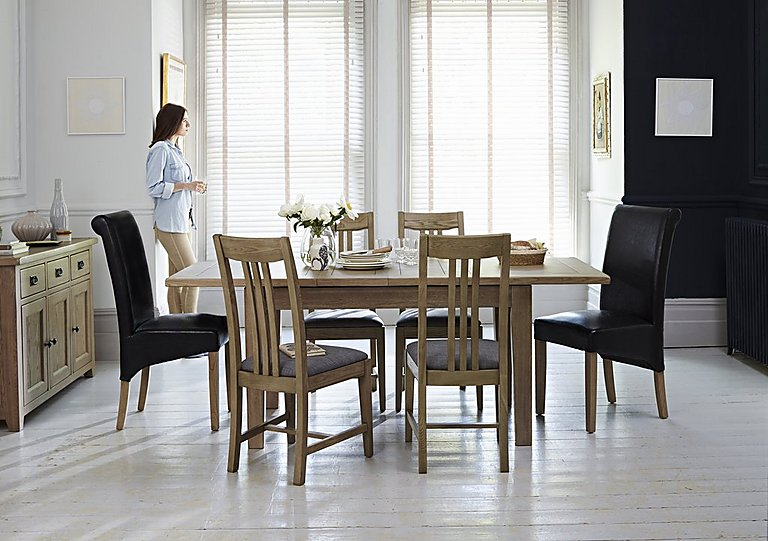 Provence Dining Table And 4 Chairs With Sideboard Set