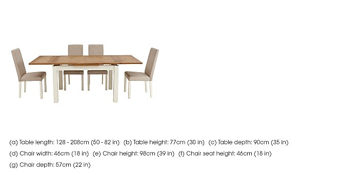 Compton Extending Dining Table and 6 Upholstered Chairs in  on Furniture Village